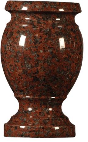 vase africanred turned