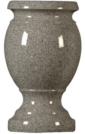 vase dkgray turned