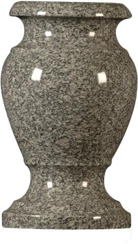 vase imperialgray turned