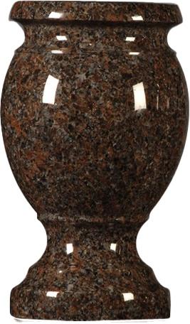 vase mahogany turned