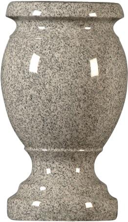 vase medgray turned
